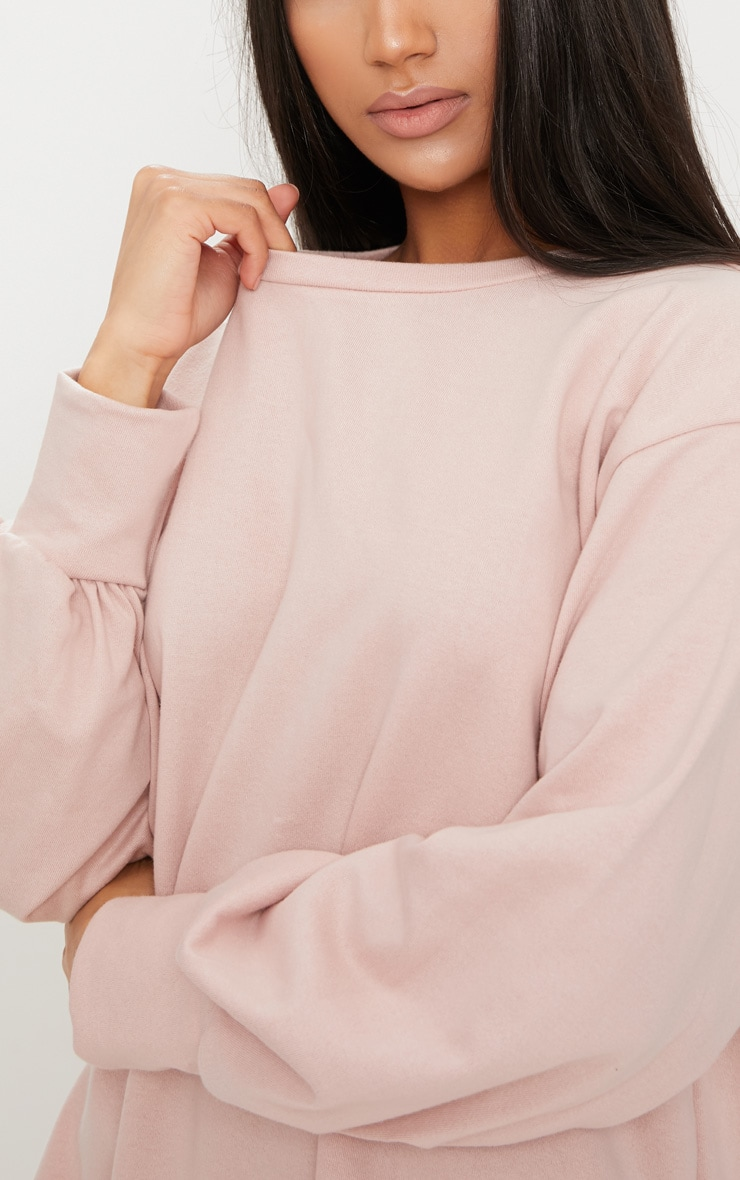 Robe sweat oversize nude 5