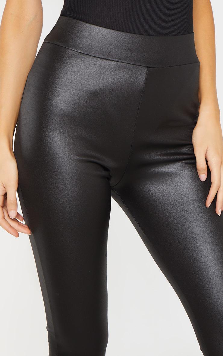 Tall Black Wet Look Skinny Pants 5
