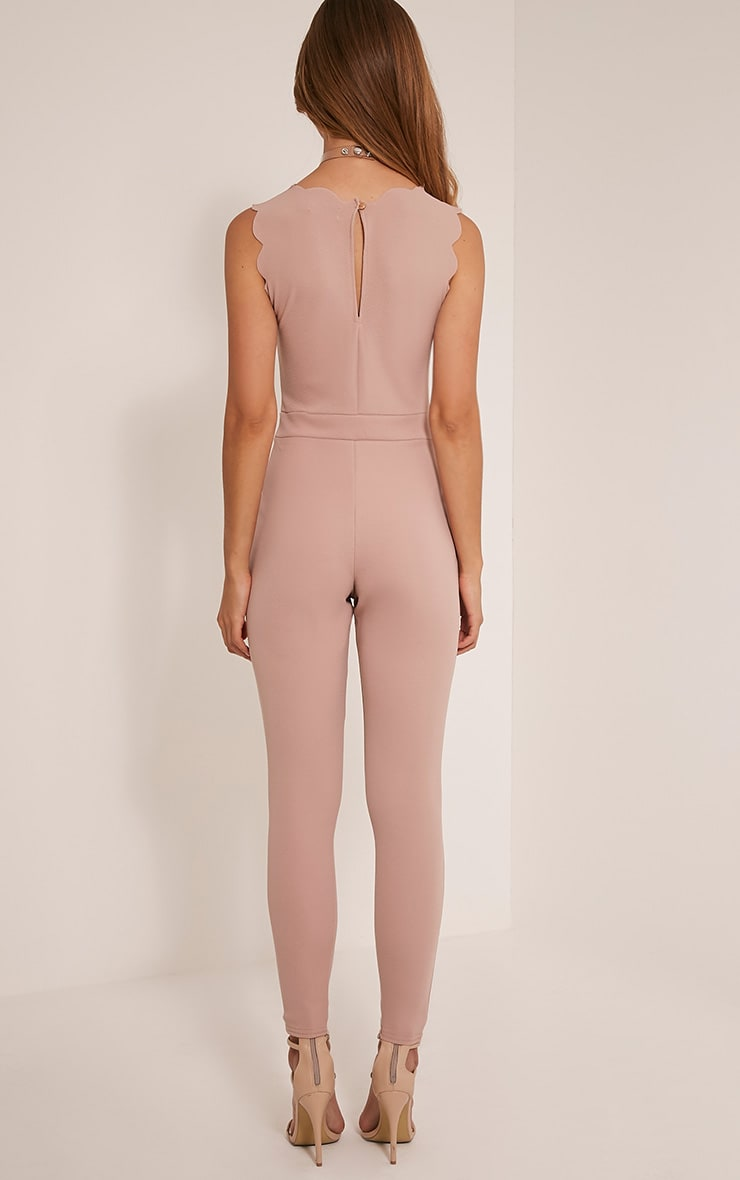 Lindiana Stone Scallop Detail Jumpsuit 2