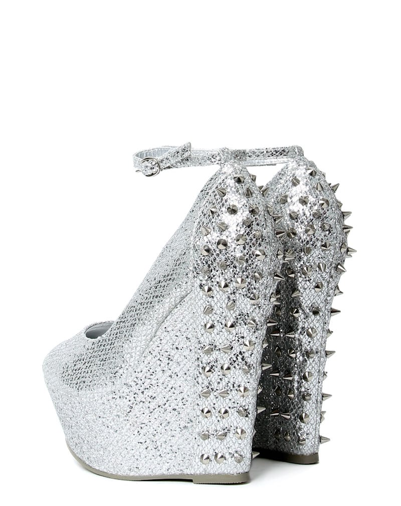 Kennedy Silver Spike Wedge  3