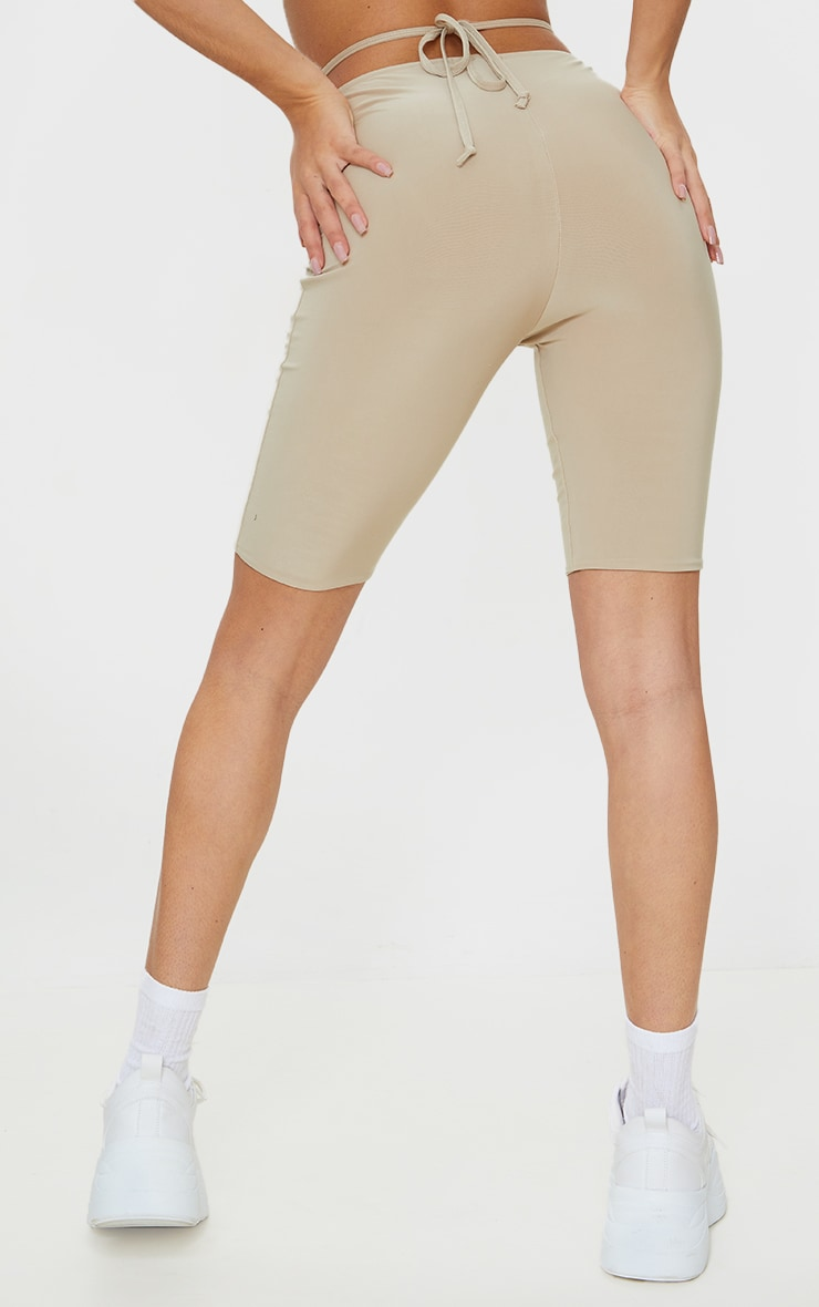 Stone Slinky Ruched Waist Cycle Shorts 3