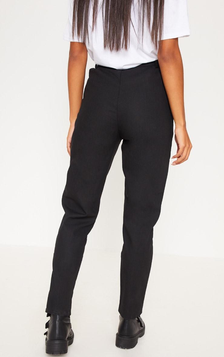 Black Pleat Front Cigarette Trouser 4
