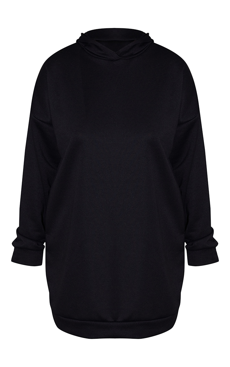 Plus Black Hoodie Sweater Dress 5