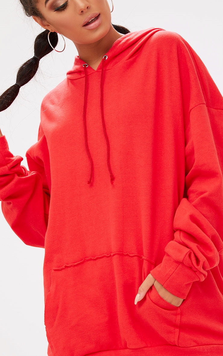 Red Oversized Hoodie 5