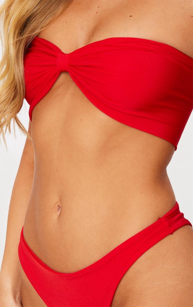 Red Bow Top Bikini Set 5