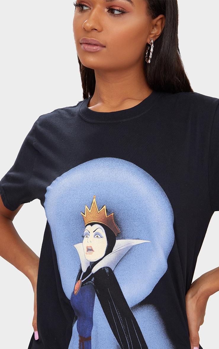 Disney Black Snow White Queen Slogan T Shirt 5