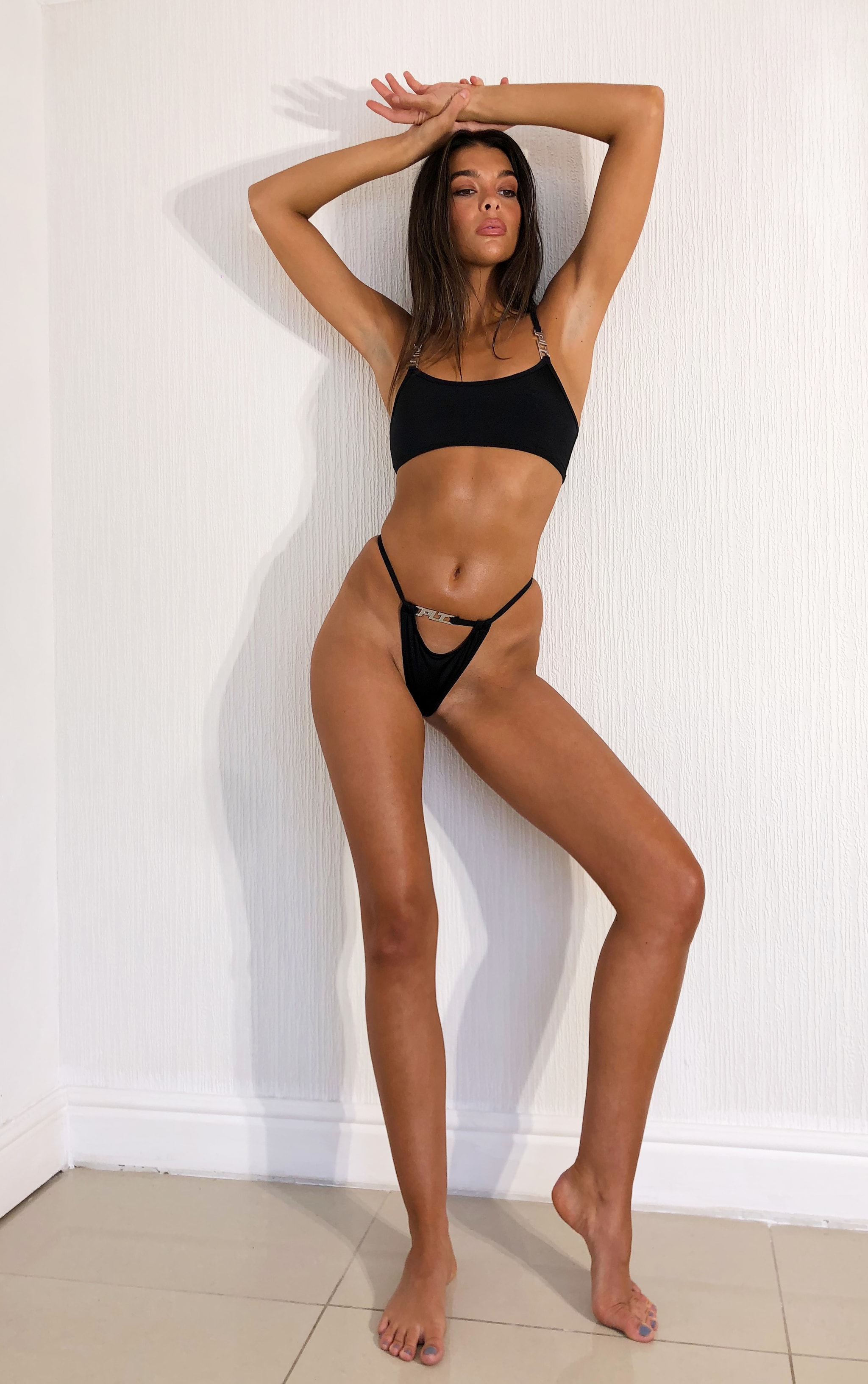 PRETTYLITTLETHING Black Cut Out Bikini Bottoms 3