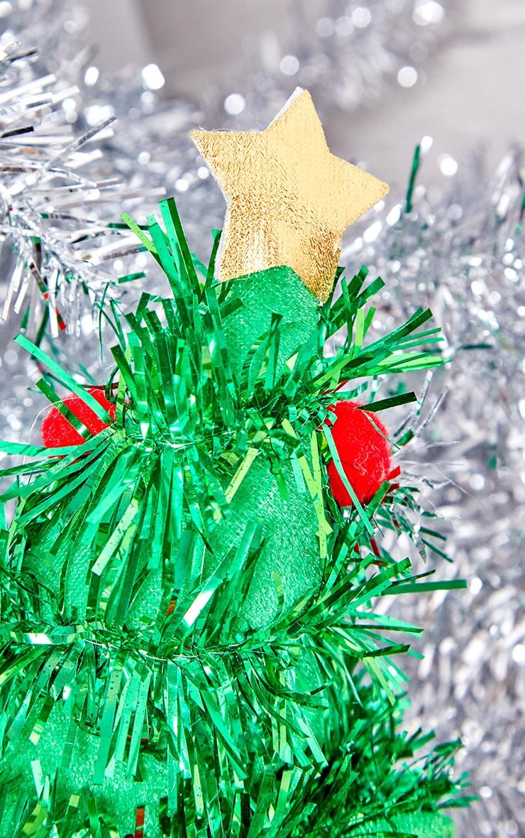 Green Tinsel Christmas Tree Head Band 2