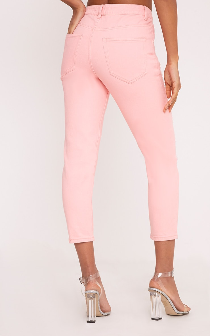 Pink Extreme Shred Mom Jean 4