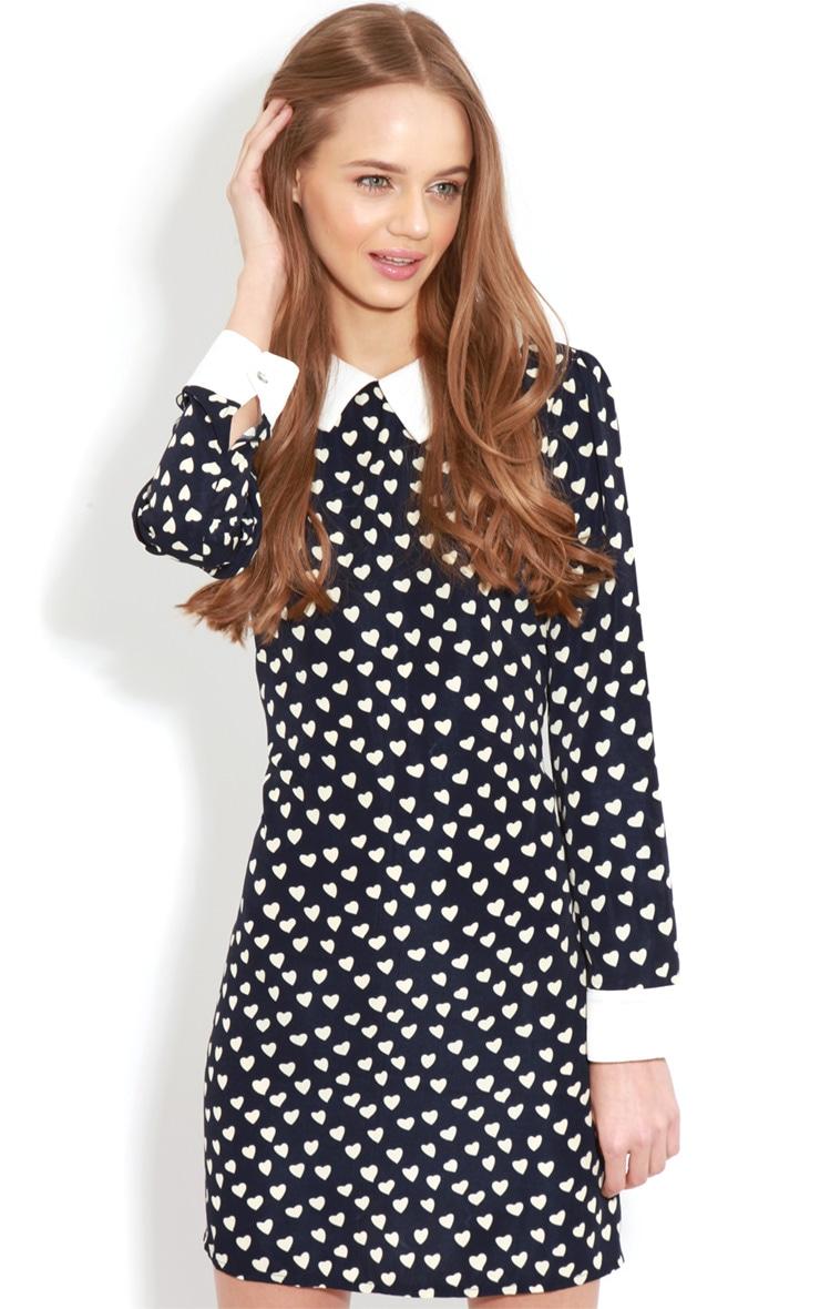 Karlie Blue Love Heart Collar Dress  5