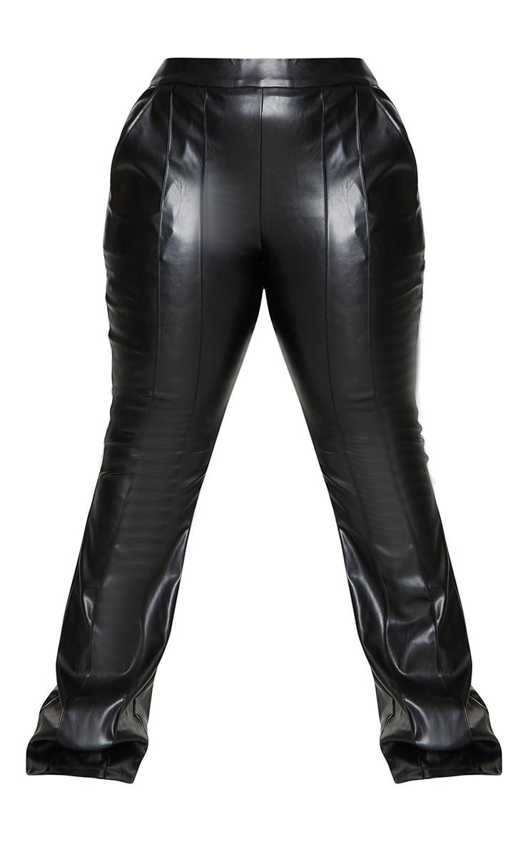 Plus Black PU Seam Detail Trousers 5
