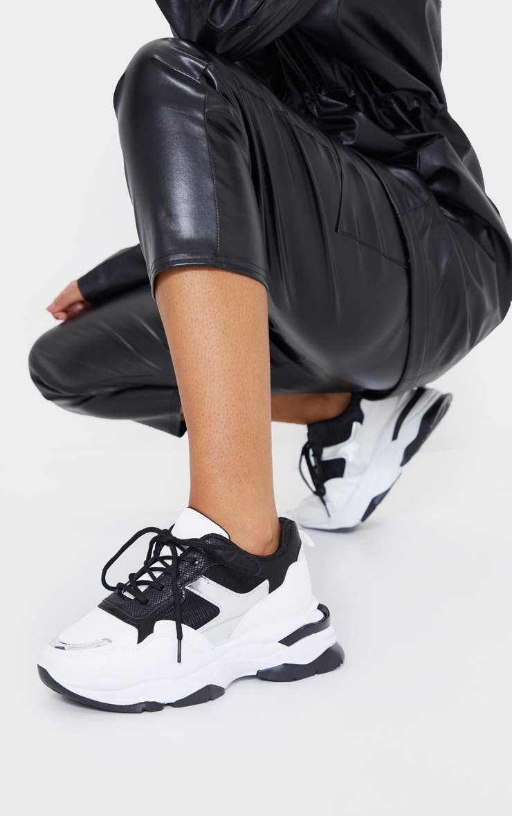 Mono Rubber Contrast Sole Sneakers 1