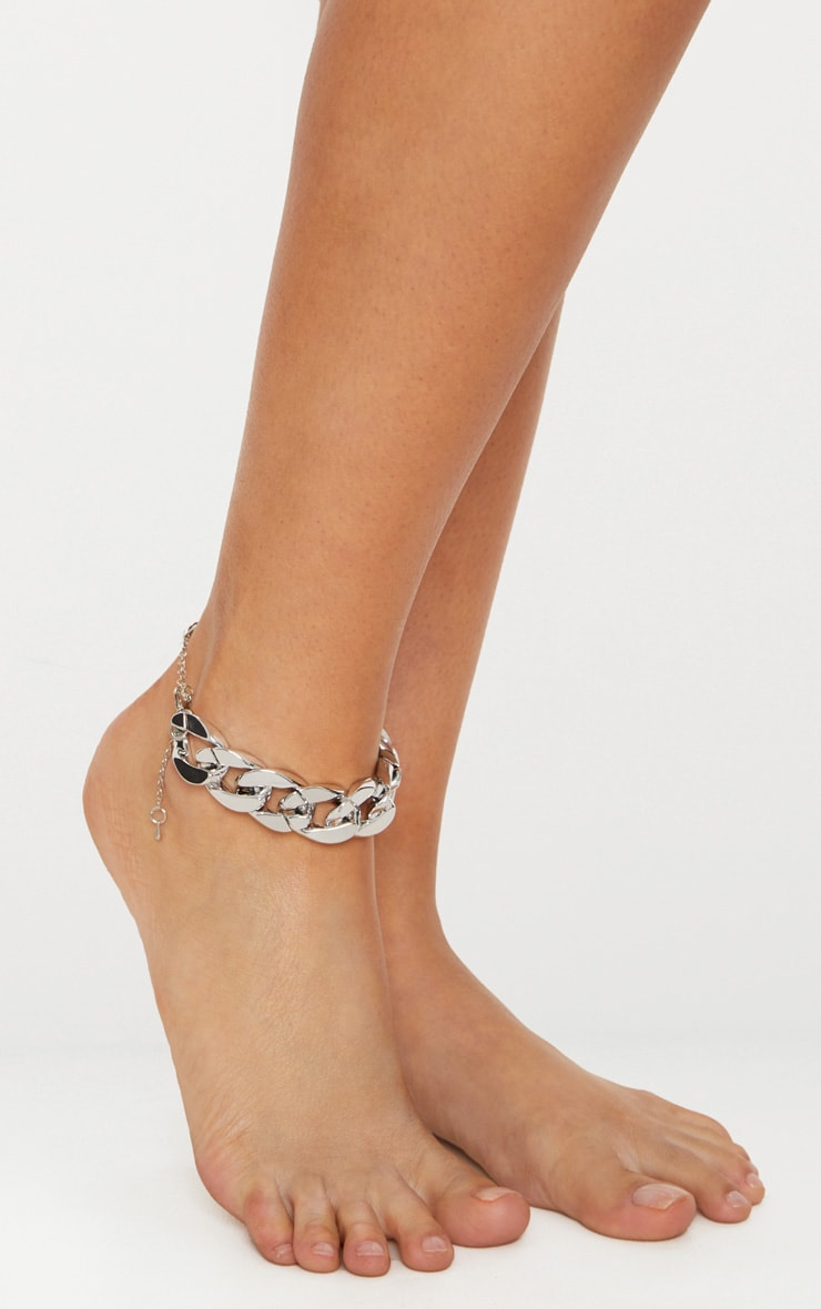 Silver Chunky Chain Anklet 1