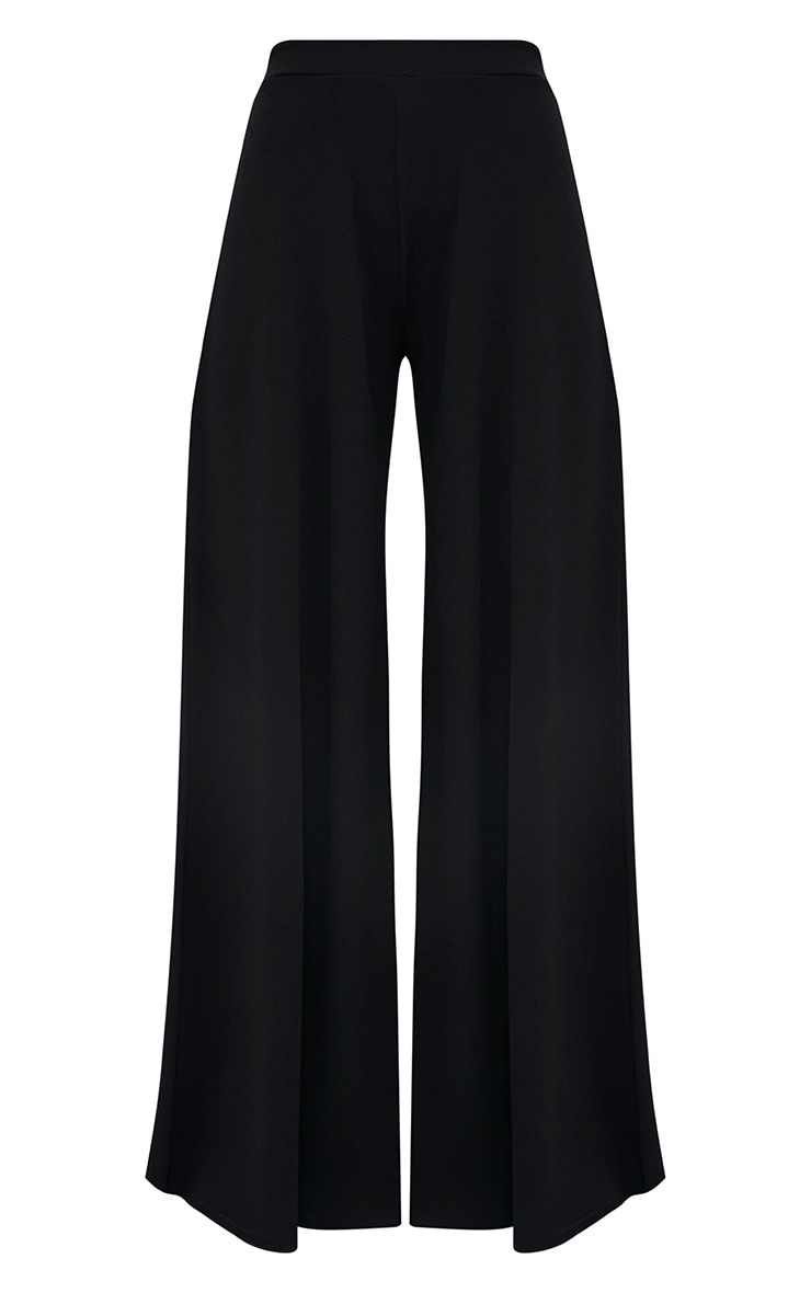 Sidney Black Extreme Wide Leg Crepe Trousers 3