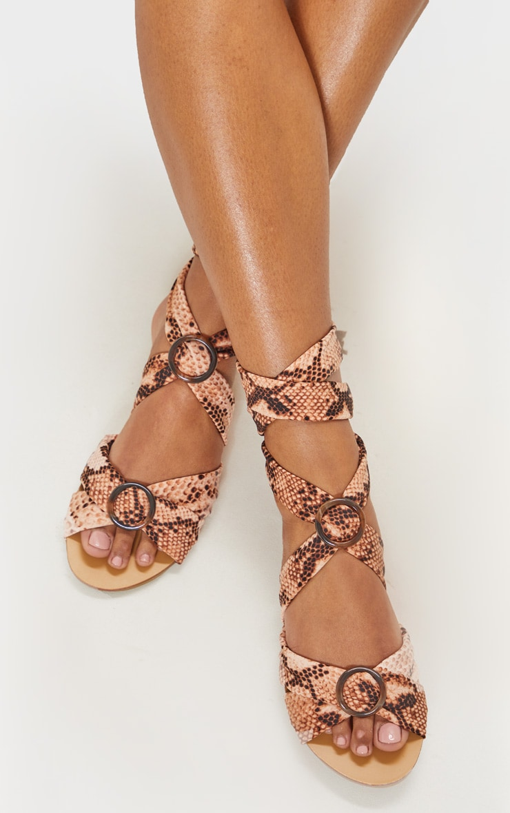Snake Tortoise Ghillie Lace Up Sandal 3