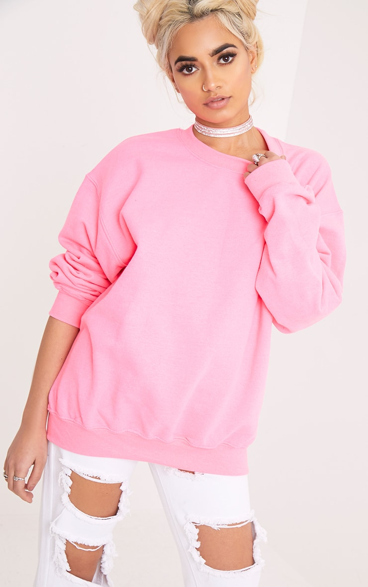 Ultimate Neon Pink Crew Neck Sweater 1