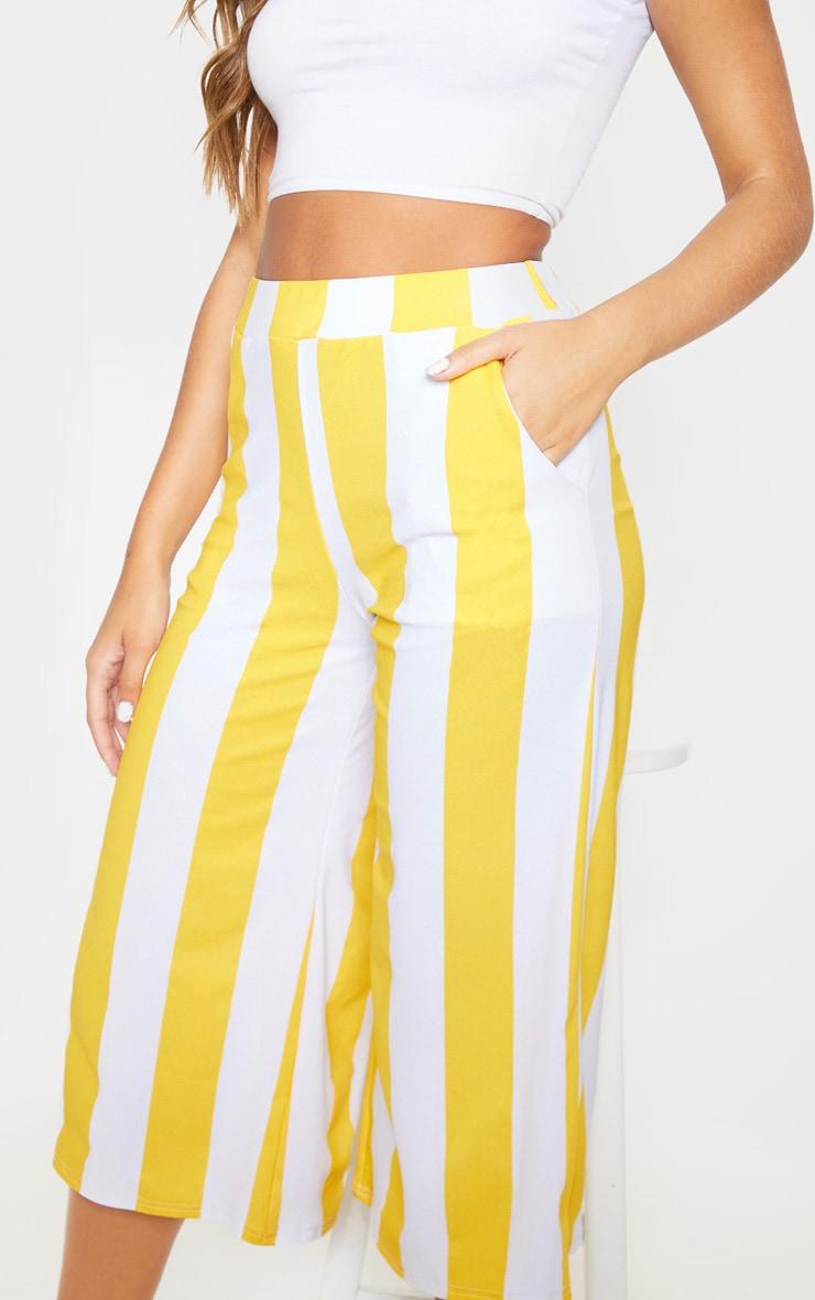 Mustard Stripe Pocket Detail Culottes 6