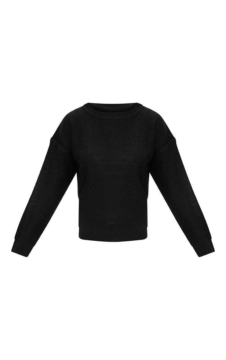 Black Boxy Basic Jumper 3