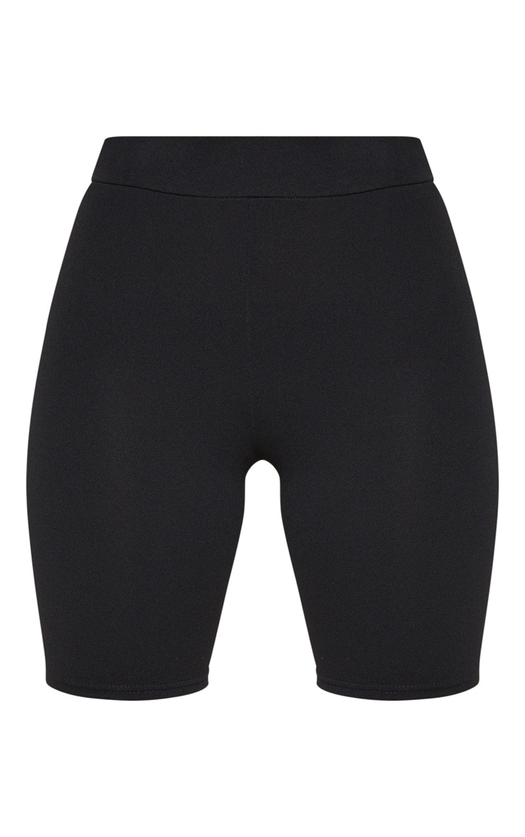 Petite Black Stretch Crepe Cycling Shorts 3