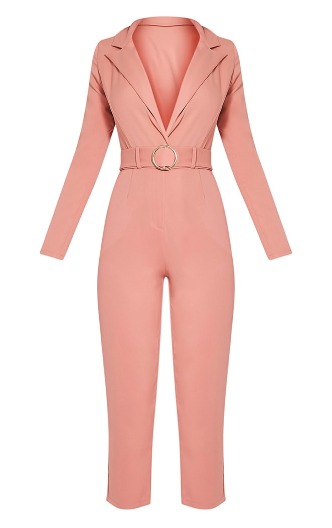 Mell Rose Wrap Buckle Crop Jumpsuit 3