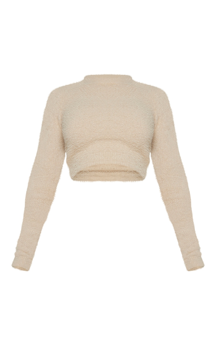 Shape Stone Fluffy Knit Extreme Crop Top 5