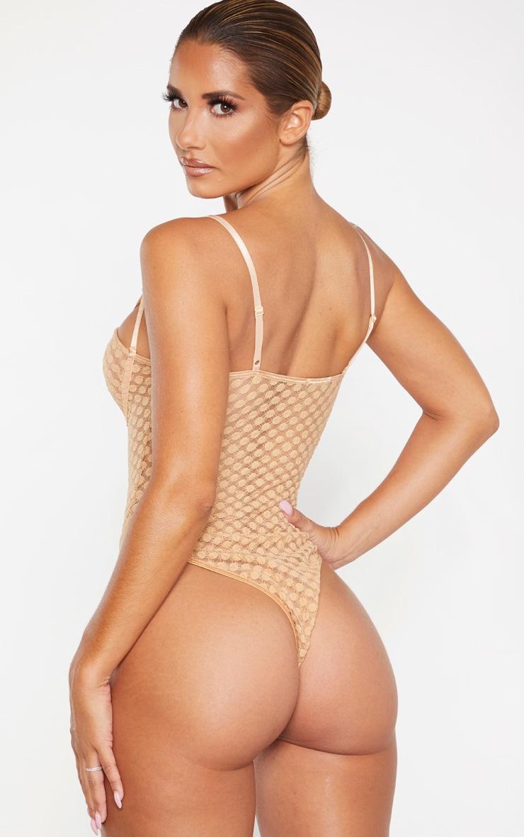Nude Spot Lace Mesh Insert Body 2