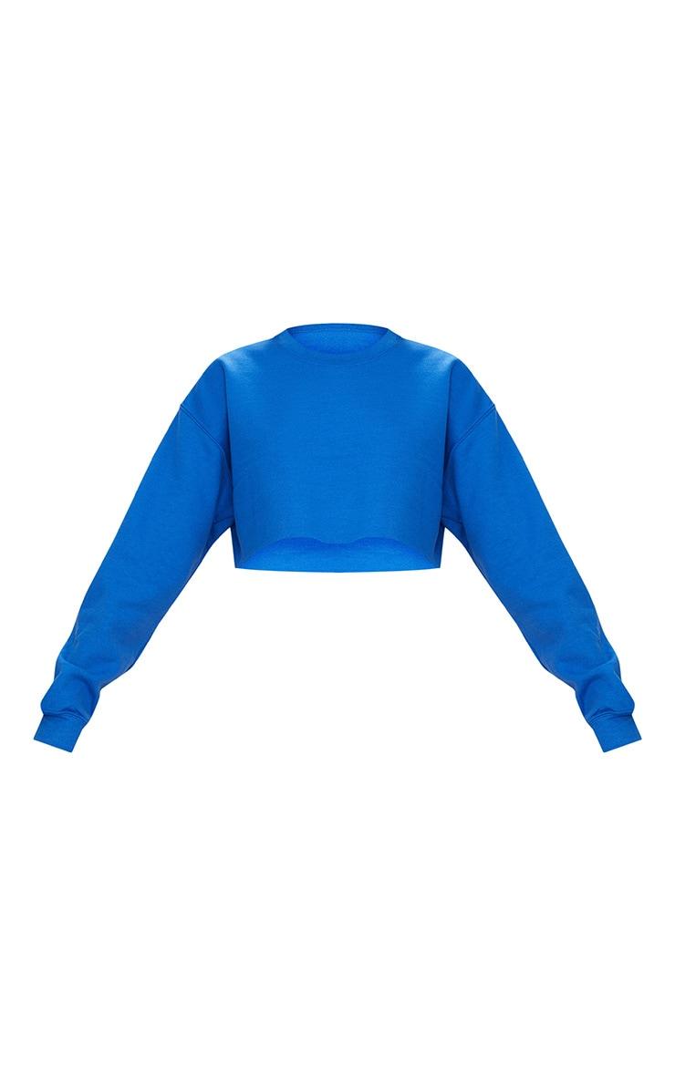 Sweat court bleu roi classique 3