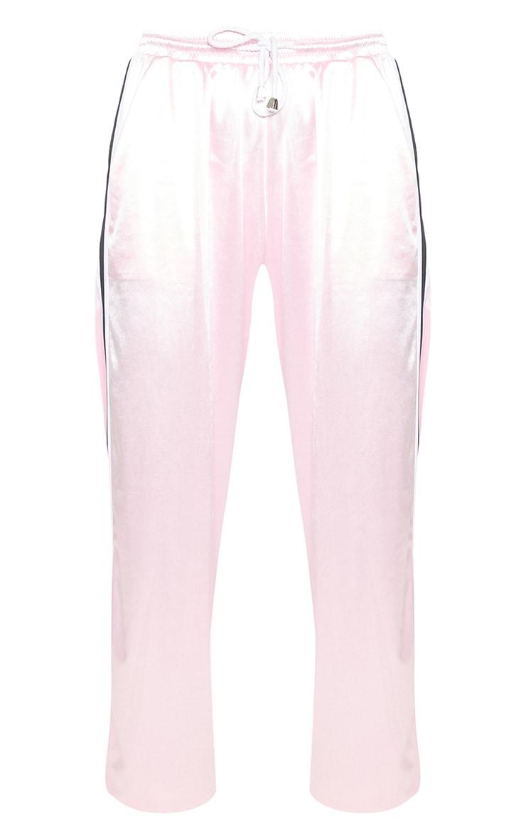 Pastel Pink Stripe Trim Joggers 4