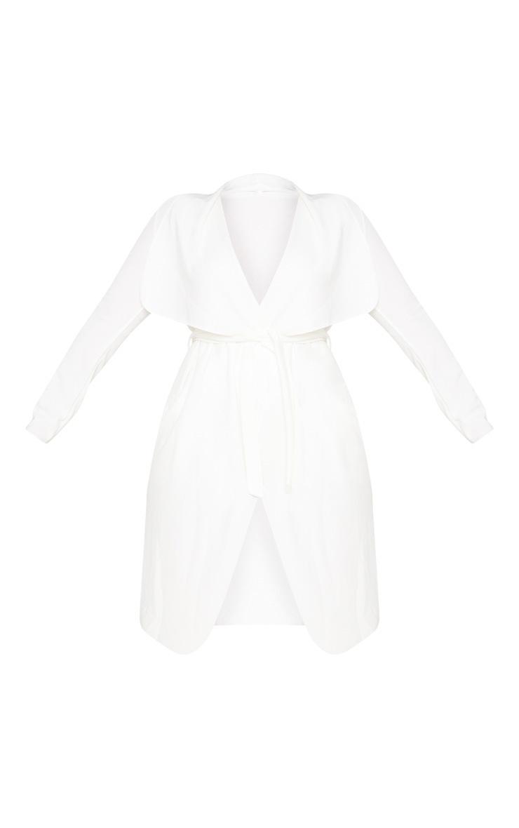 Plus Cream Waterfall Coat 4