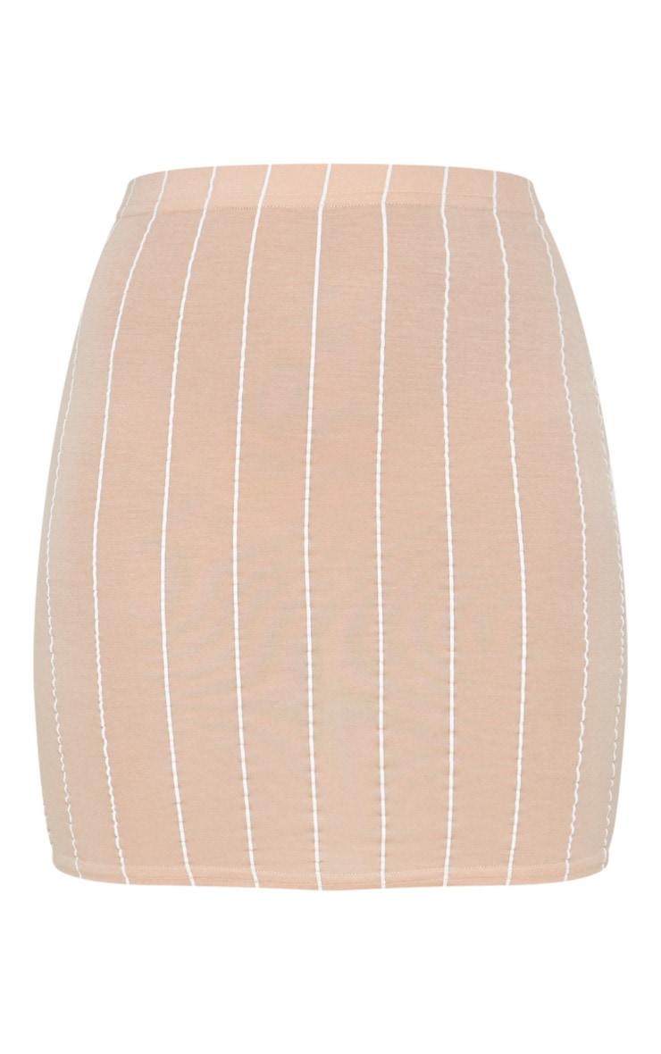Nude Basic Jersey Pinstripe Mini Skirt 3
