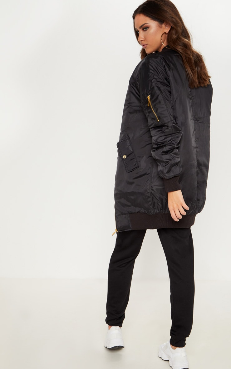 Shelbi bomber long noir 2