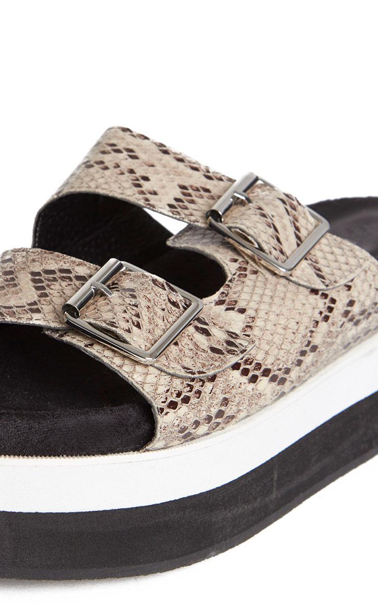 Cody Snake Effect Buckle Flatform Sandals 4