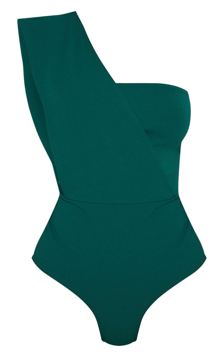 Emerald One Shoulder Bodysuit 3