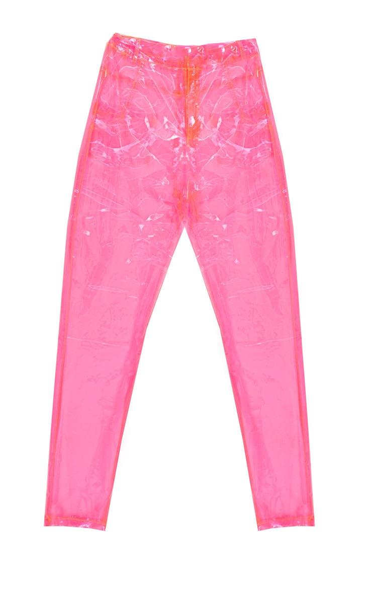 Hot Pink Transparent Straight Leg Trouser 3