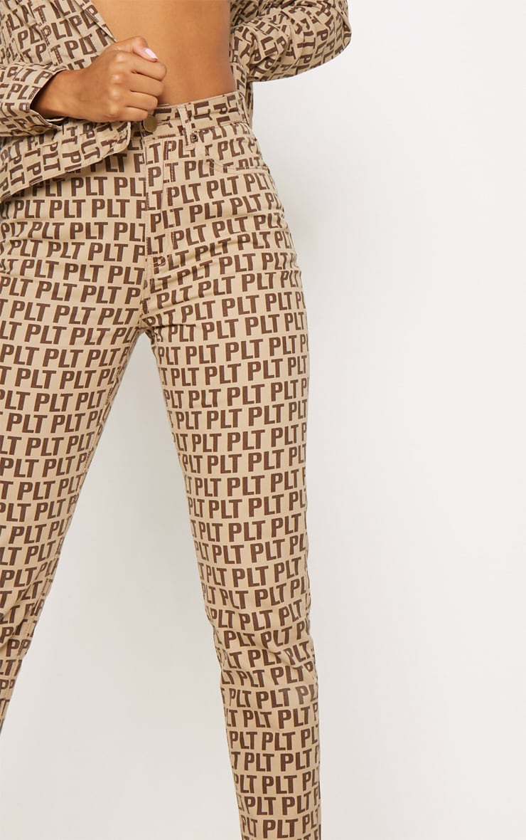 PRETTYLITTLETHING Brown Straight Leg Jean  5