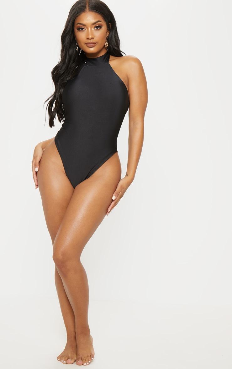 Shape Black High Neck Swimsuit 5