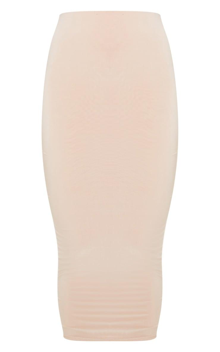Stone Second Skin Slinky Longline Midaxi Skirt  6