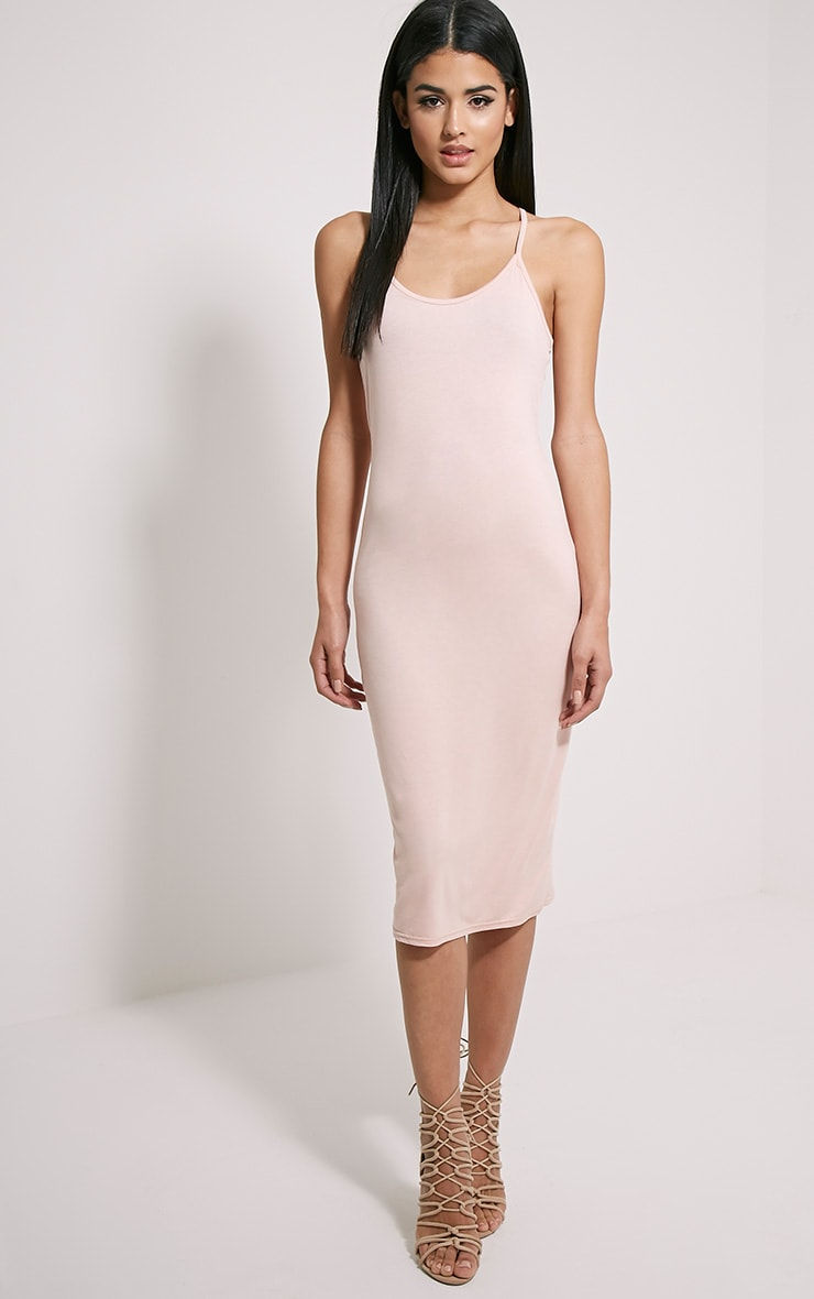 Basic Nude Midi Dress 1