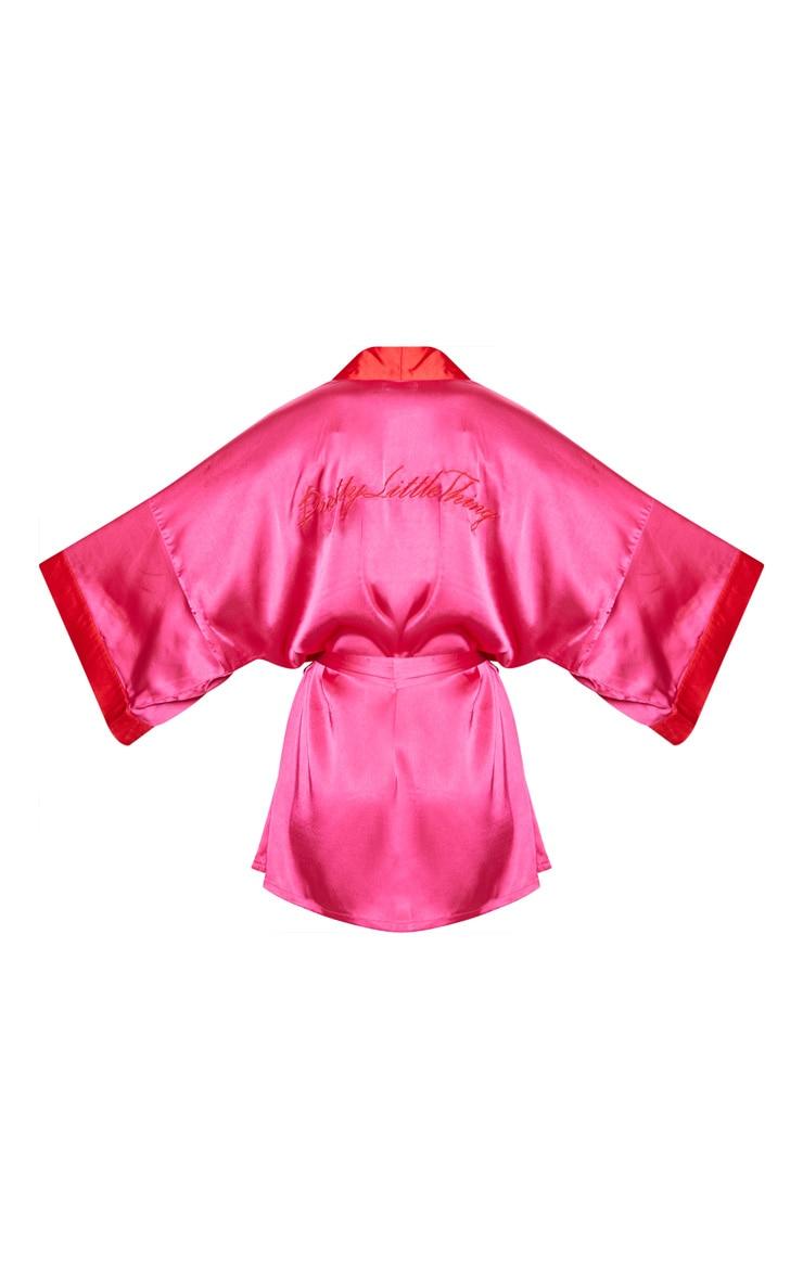 PRETTYLITTLETHING Fuchsia Satin Robe  4