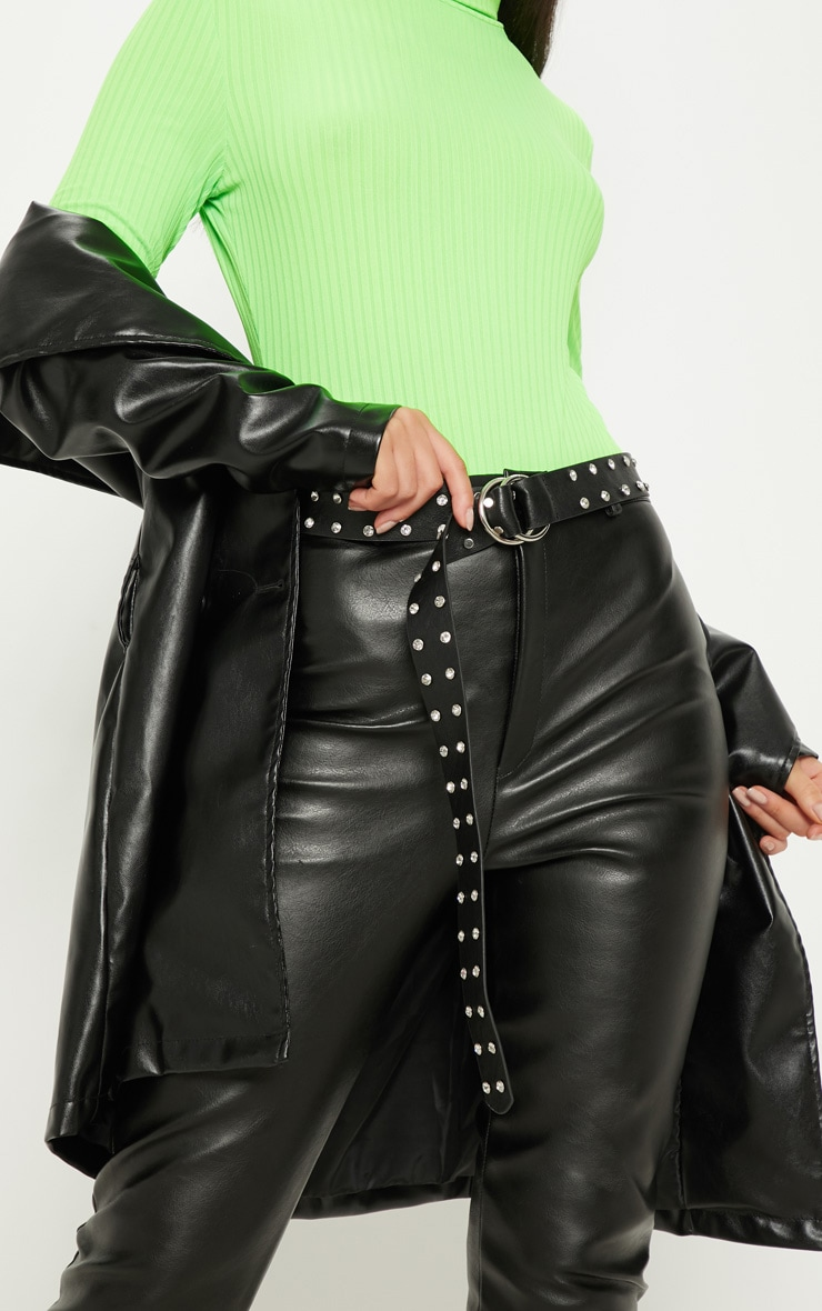 Black Studded Diamante Belt 1
