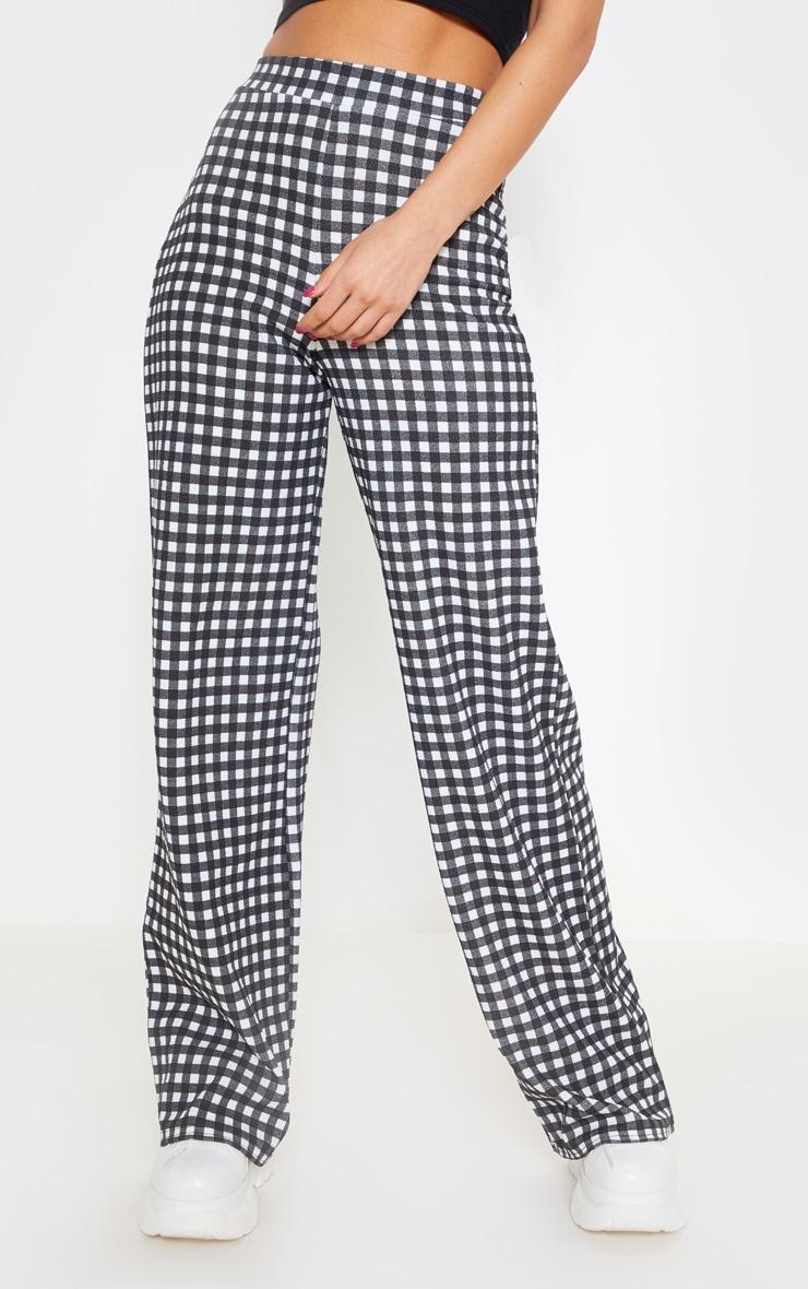 Pantalon à carreaux vichy noir 2