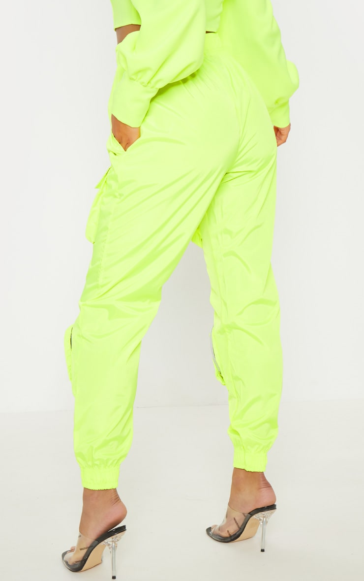 Neon Lime Shell 3D Pocket Detail Jogger 5