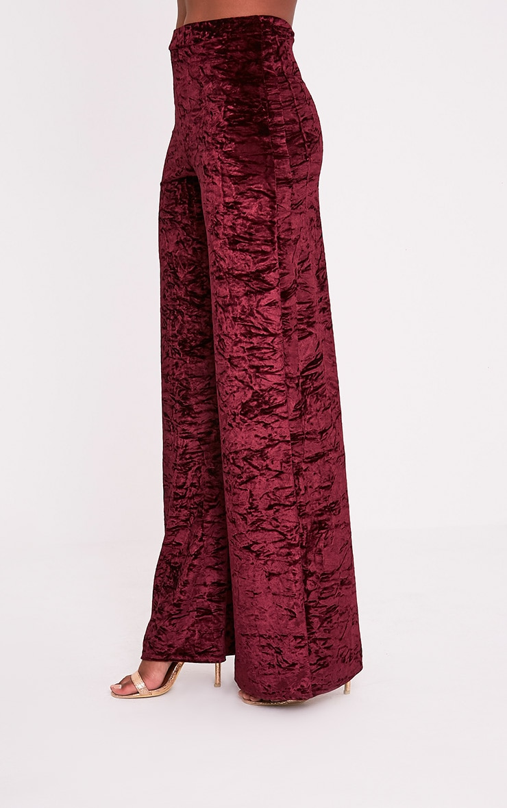 Jill Berry Crushed Velvet Palazzo Trousers 4