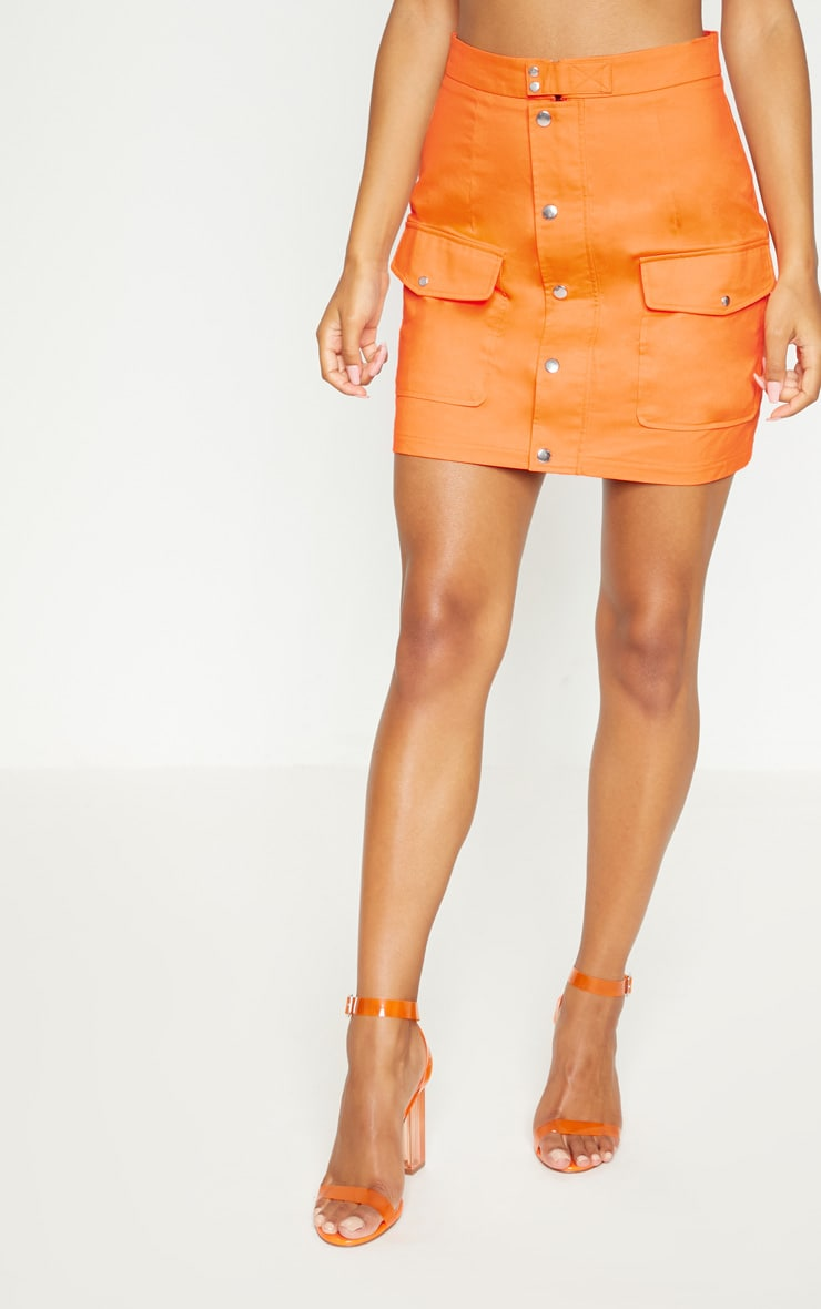 Orange Utility Skirt 3