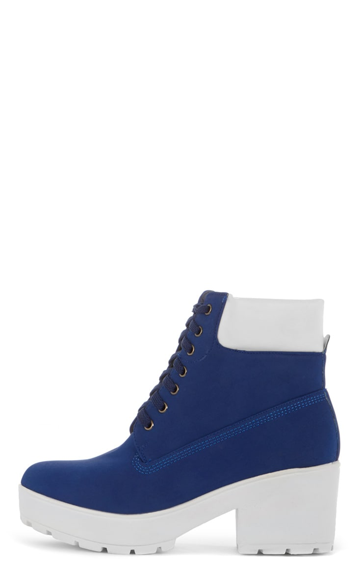 Leora Cobalt Lace Up Boot 1