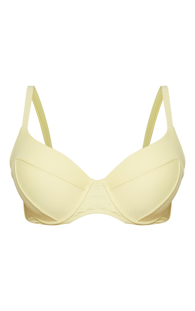 Yellow Underwired Fuller Bust Cup Bikini Top 5