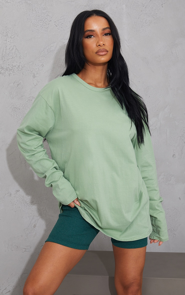 Khaki Oversized Boyfriend T Shirt