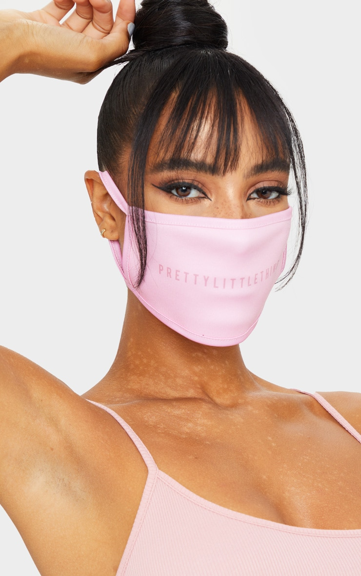 PRETTYLITTLETHING Baby Pink Face Mask 1