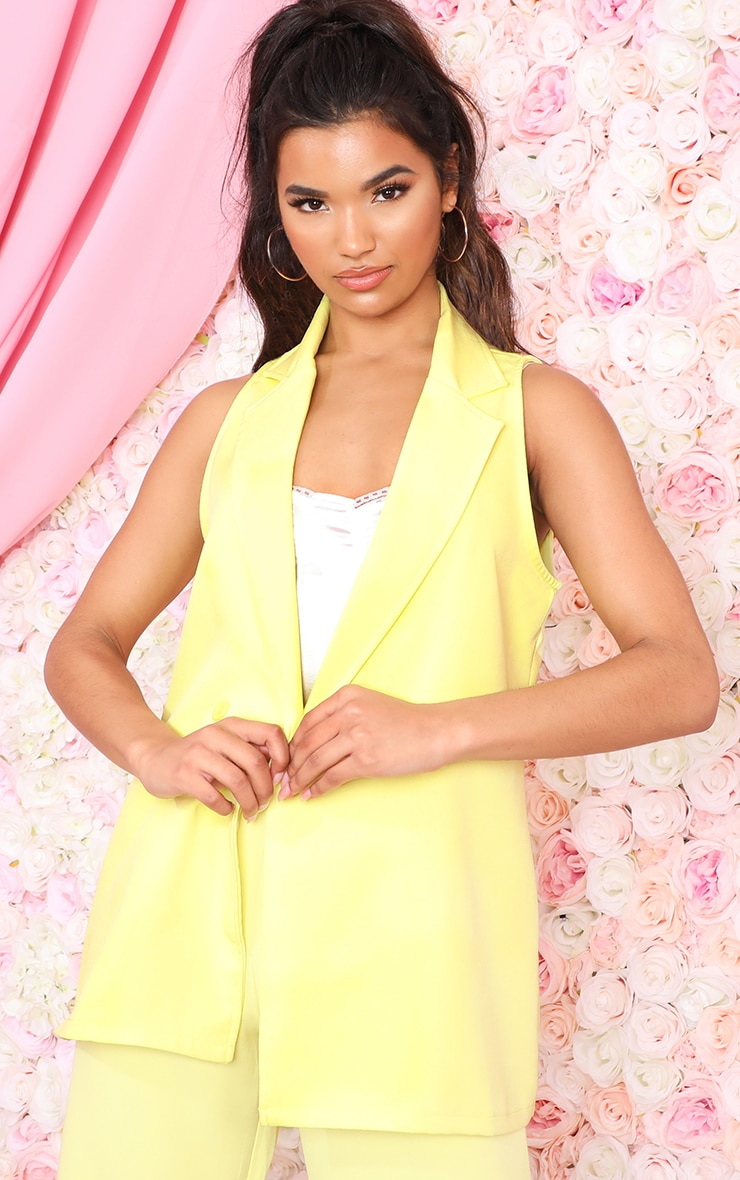 Lemon Sleeveless Blazer  1