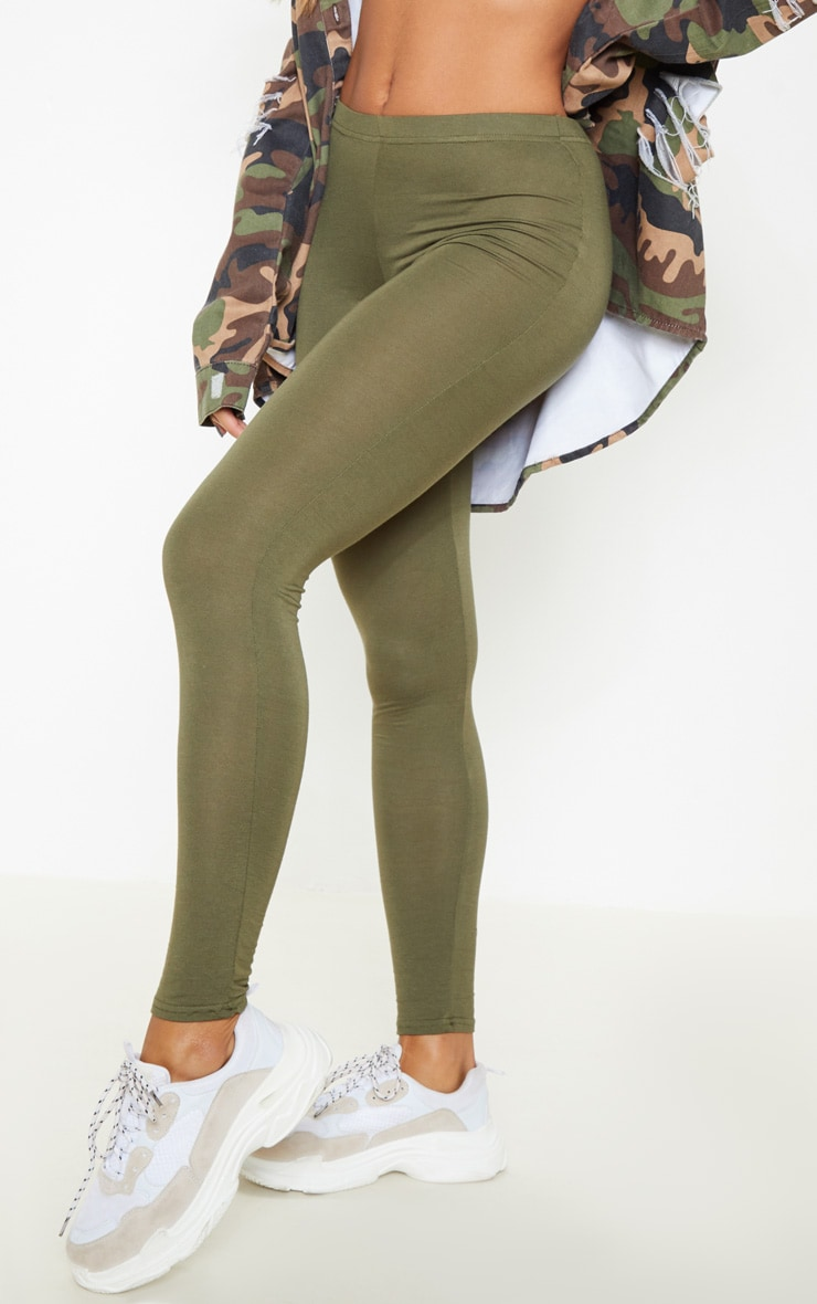Basic Khaki Leggings 6